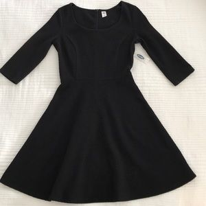 Black Fit & Flare Dress from Old Navy NWT